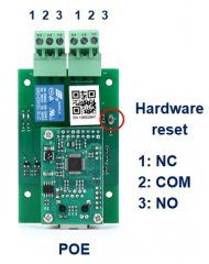 BEM11001 LAN 4 channel solid state relay board with POE